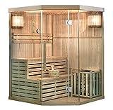 Home Deluxe - Traditionelle Sauna - Skyline XL - Holz: Hemlocktanne - Maße: 150 x 150 x 210 cm - inkl. kompl. Zubehör | Dampfsauna Aufgusssauna Finnische Sauna