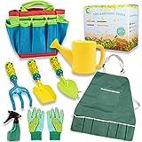 Gartengeräte für Kinder, Spielwerkzeuge für den Garten / Strand, Gartenwerkzeug Set Im Freien Geschenk für Junge Mädchen 4 Jahre +