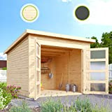 Hori® Gartenhaus I Gerätehaus Herning aus Holz I nordische Fichte Natur I 242 x 246 cm - 19 mm Bohlenstärke