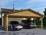Carport Satteldach MONZA II 600x600cm, Bausatz Satteldachcarport