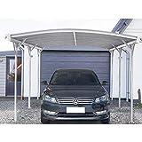Home Deluxe - Design Carport weiß- Falo - Maße: 505 x 300 x 226/240 cm - komplett inkl. Montagematerial | Autoüberdachung Garage Unterstand