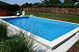 Summer Fun Styropor Schwimmbecken Set rechteckig inkl. Sandfilteranlage Lugano 700 x 350 x 150 cm Tiefbeckenleiter